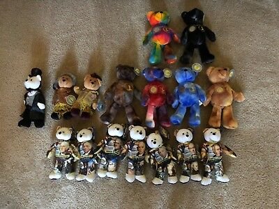 (16) different bean bears with coins Presidential, Lewis and Clark, Sacagawea