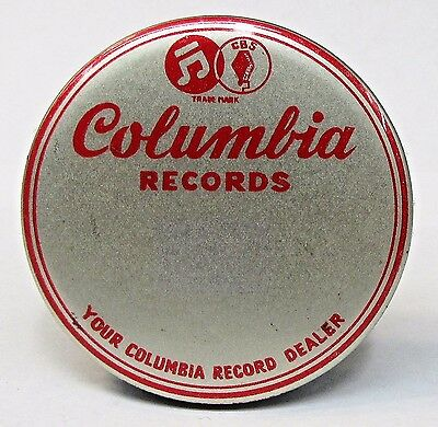 vintage COLUMBIA RECORDS  small advertising celluloid record cleaner brush *