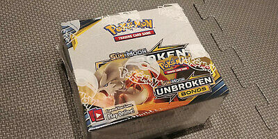 Pokemon TCG Unbroken Bonds Booster Box 36 Booster Packs Sun & Moon