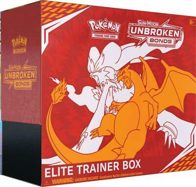 Pokemon TCG Unbroken Bonds Elite Trainer Box 8 Booster Packs Sun & Moon