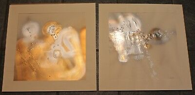 """1 Pair Of Abstract Paintings Titled """"Deep - One"""" & """"Deep - Two"""" - Circa 1973"""