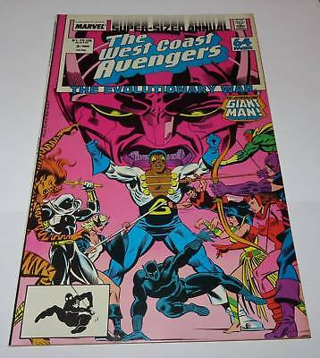 West Coast Avengers Comic Book Vol. 2 Annual #3 Marvel 1988