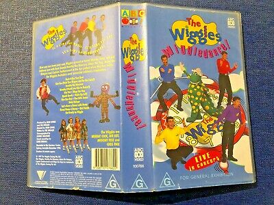 """The  Wiggles VHS  """"Wiggledance"""" ABC Live in Concert 1996"""
