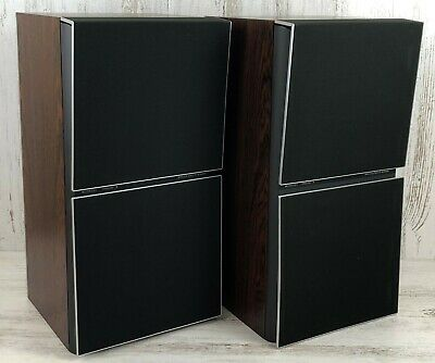 VTG (1980s) Pair of B&O Bang & Olufsen BEOVOX S 80.2 Uniphase 80W 3-Way Speakers