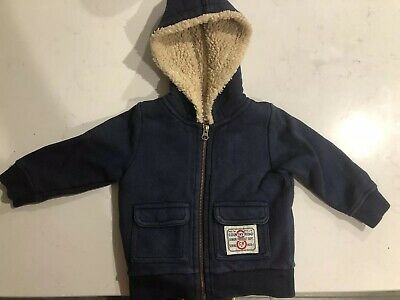 COUNTRY ROAD Boys Navy Blue Jacket. Size 12-18 Months