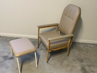 Murray Bridge Aluminium High Back Chair  (aged care) and foot rest