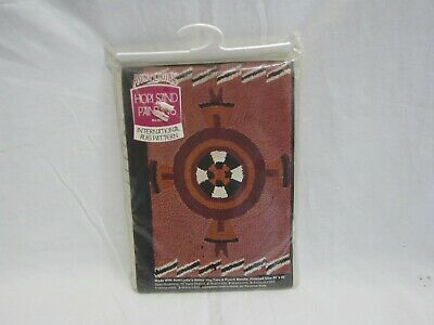 "Aunt Lydia's ""HOPI SAND PAINTING"" International Rug Pattern #403 -24"" x 36""(4D1)"