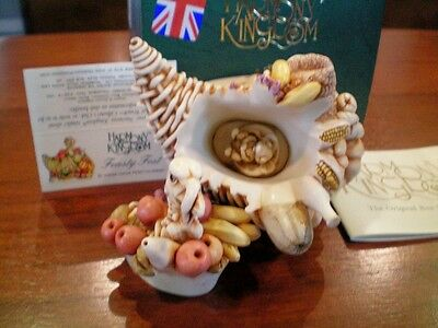 Harmony Kingdom Feasty Fest Cornucopia Turkey Mold Variation UK Made NIB RARE
