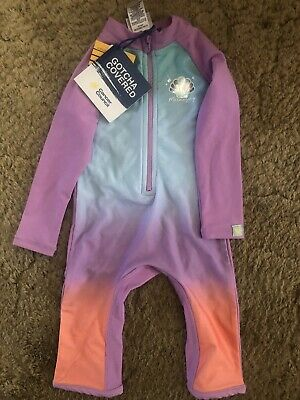 Girls One Piece Size 1 Cancer Council Bathers NWT