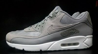 new style f0932 e4bf0 Nike Air Max 90 Ultra 2.0 LTR Leather Dust White Grey Men sz 14 Shoes 924447