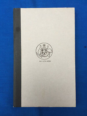 Vintage Rare AUSTRALIAN NOTEBOOK with Commonwealth Coat of Arms