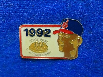 Cleveland Indians 60th Banned Mascot Chief Wahoo On Cap MLB Baseball Pin On Card