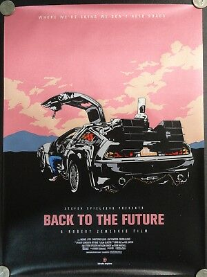 DeLorean Time Machine Car Back To The Future Science Fiction CLOTH Poster Banner