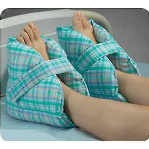 Posey Heel Pillows 10''L x 9''H Pastel plaid, Washable, Comfortable-1 Pair