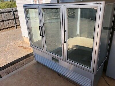 Commercial Glass Stainless Steel Fridge