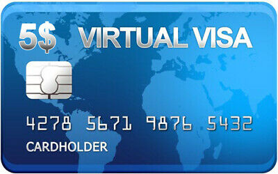 VCC Virtual Credit CARD with $5 Balance -paypal verification,and online shoping