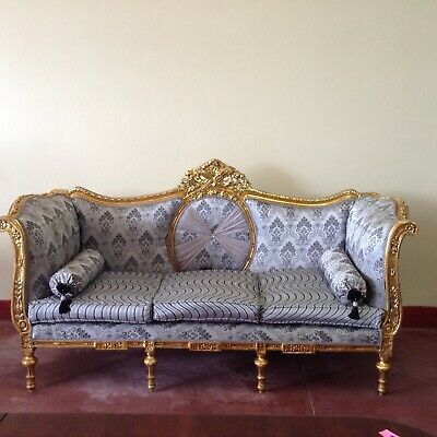 Antique Gilded French Lounge Suite Louis XV Style