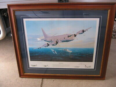 Framed print of RAAF AP-3C Orion Aircraft by Barry Spicer.