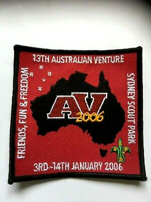 AUSTRALIA. 13th NATIONAL VENTURE, 2006, NSW. OFFICIAL PARTICIPANT SCOUT BADGE.