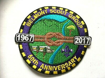 AUSTRALIA. NSW. BELMONT SCOUT GROUP 2017. 50th ANNIVERSARY SCOUT BADGE.
