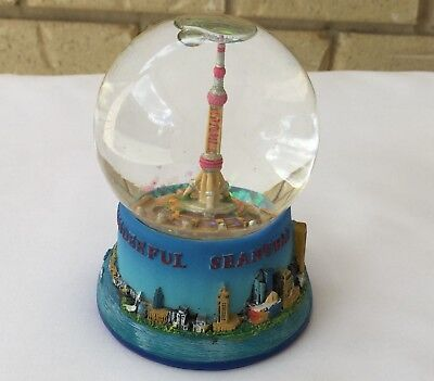 Vintage Snow Globe Dome Travel Souvenir Wonderful Shanghai From Shanghai Rare