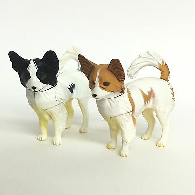 Choco Q Mini Figure Dog Papillon 2pcs Kaiyodo Japan choco egg