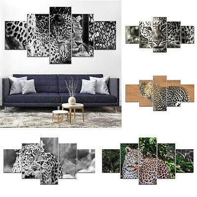 Leopard Wild Animal Canvas Print Painting Framed Home Decor Wall Art ff Poster