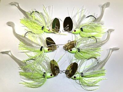 Chatterbait  Homemade 6 Total 3 3//8  3 1//2 with weedguard