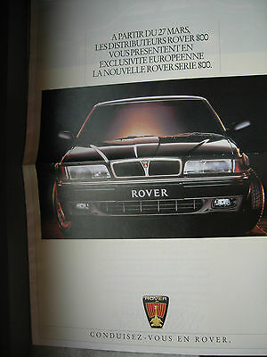 ROVER 800 et MINI Cooper TBi 1992 Original belgian brochure Prospekt advertising