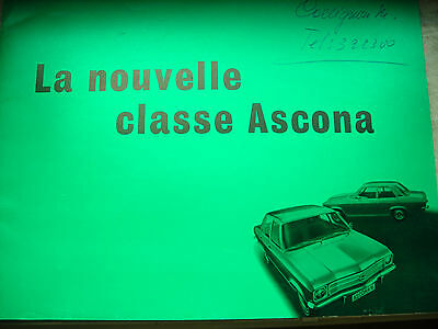 OPEL ASCONA 16 & Voyage 1970 Original belgian  brochure Prospekt documentation