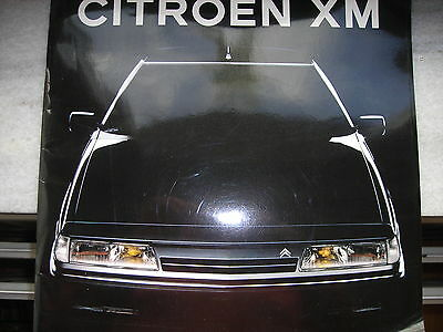 Citroen XM1991 Original belgian  Catalogue Prospekt  en français, in french