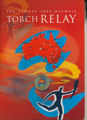 Australia: 2000 Olympic Torch Relay Medallion Booklet 100 days celebration