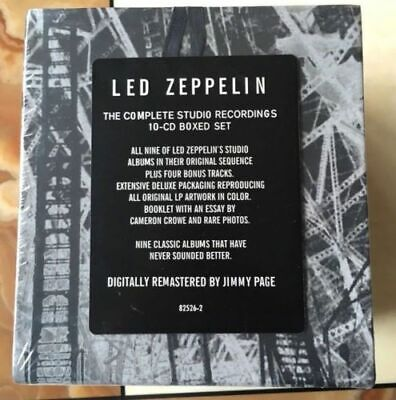 Complete Studio Recordings Led Zeppelin 10 CD Box set New Sealed