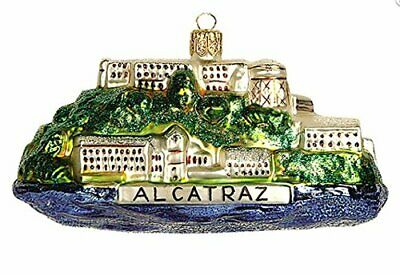 Alcatraz Prison San Francisco California Glass Christmas Ornament 110087