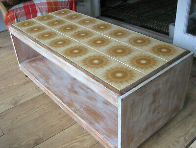 Vintage Retro 1960s 70s Tiled Top Coffee Table Mid Century Furniture Cornwall