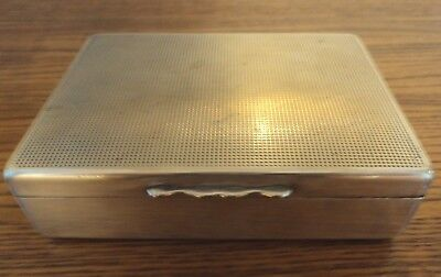 Vintage  Aristocrat White Metal Cigarette Box