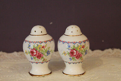 Royal Albert Petit Point Salt And Pepper Shakers (2 Sets Available)