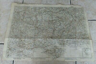 Vintage Bacon's Road Map of Hampshire