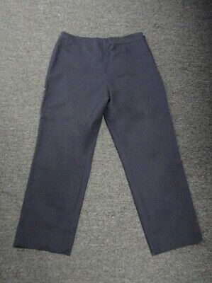 NIC + ZOE Navy Blue Rayon Blend Stretch Flat Front Casual Pants Size 12 GG3225