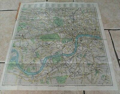 Vintage Bacon's Road Map of London