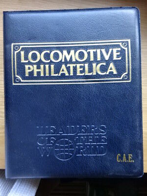 Locomotive Philatelica Folder Containing Over 200 Stamps And Inf0 - Loco 100