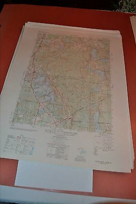 1940's Army topographic map Oxford Massachusetts -Sheet 6668 III SE