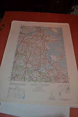 1940's Army topographic map Boston South Massachusetts -Sheet 6768 I SE