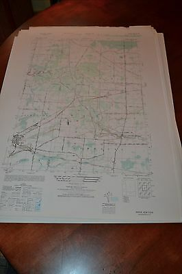 1940's Army topo map (like USGs) Akron Genesee Erie Ctys New York -5370 III SW