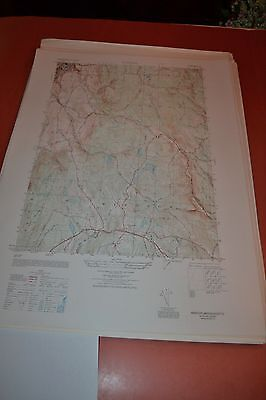 1940's Army topographic map Windsor Massachusetts -Sheet 6369 IV SE