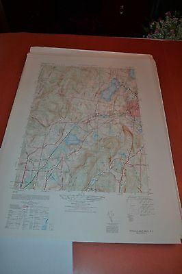 1940's Army topographic map Pittsfield West Massachusetts -Sheet 6368 IV NE