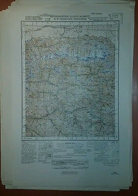 1940's US Army Map Collection  GSGS 3919 Iran, Iraq, Afghanistan 248 Sheets