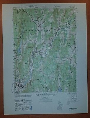 1940's Army (like USGS) topographic map Ware Massachusetts -Sheet 6568 I SW