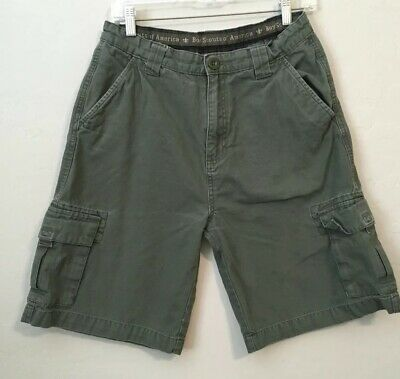 Boys Scouts of America BSA Uniform Shorts youth 22 Khaki Green Cargo