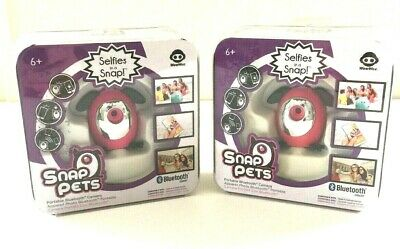 WowWee PINK SNAP PETS Selfies in a Snap Portable Bluetooth Camera Lot of 2